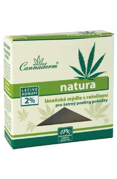 Cannaderm natura - lázeňské mýdlo s rašelinou 80 g