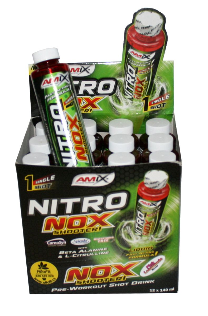 Amix NitroNox Shooter 12 x 140 ml - příchuť pink lemonade