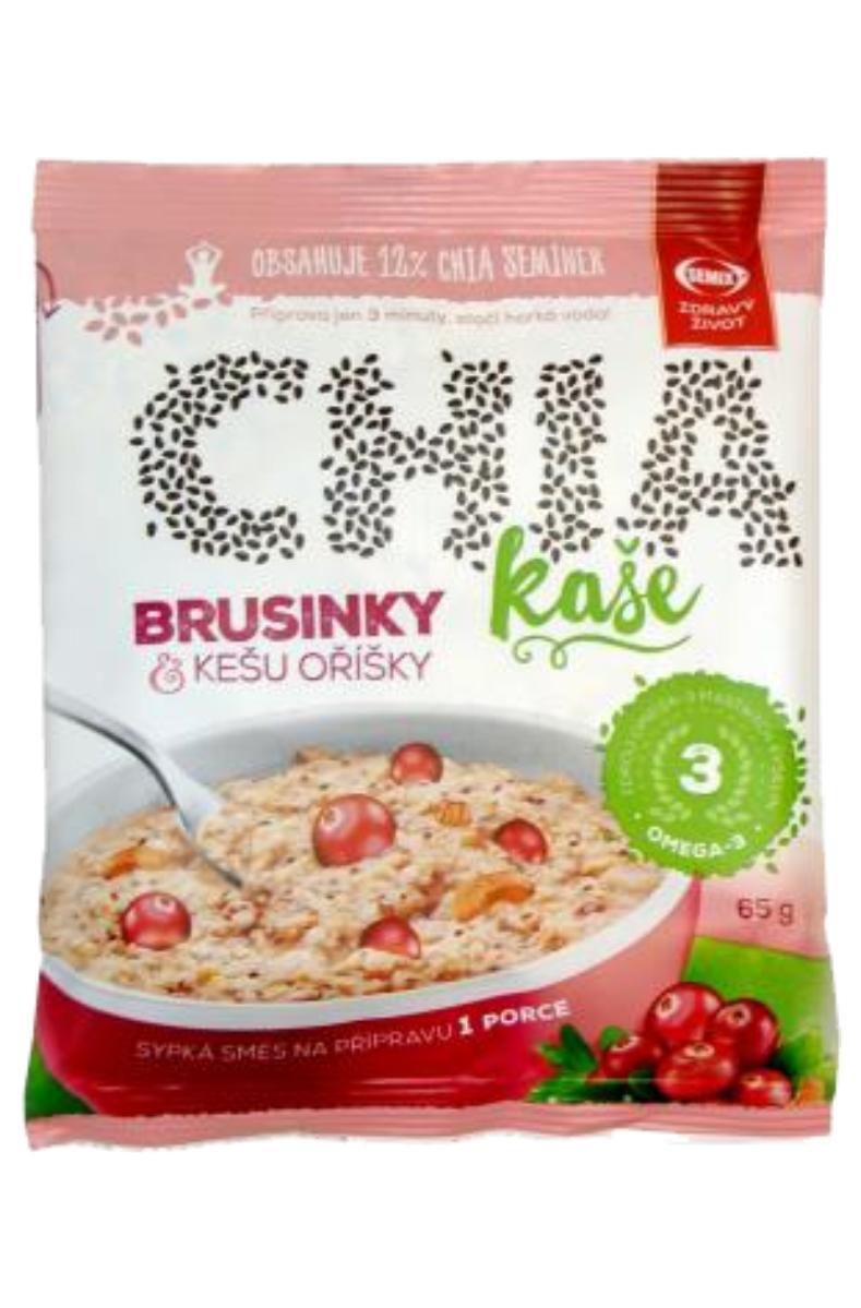 Semix Chia kaše 65 g příchuť brusinky a kešu oříšky