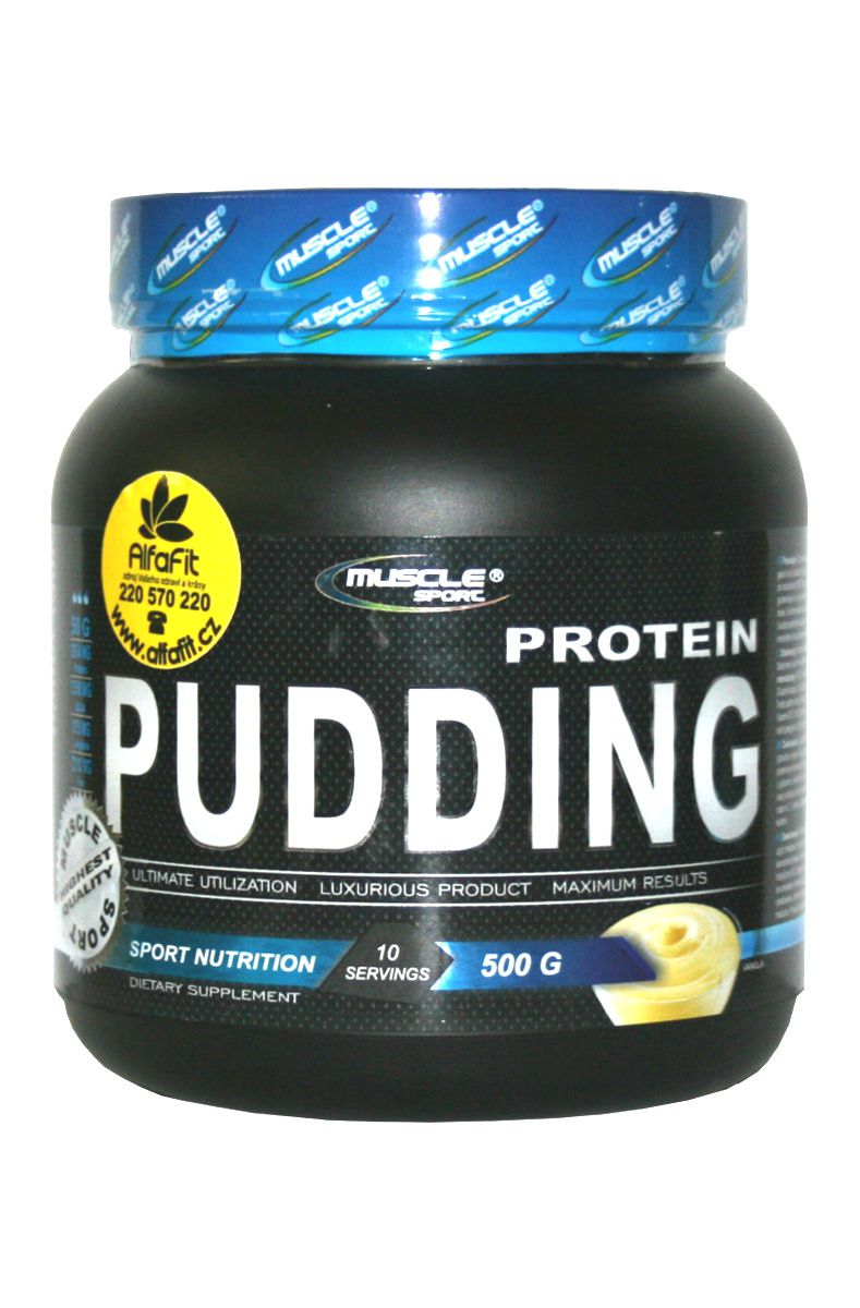 Muscle Sport Protein Pudding 500 g - vanilka
