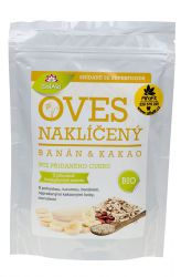 Iswari BIO Gluten–free oat sprouts – flakes 360 g ─ banana & cocoa