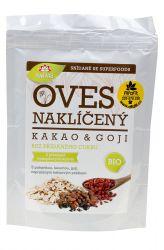 Iswari BIO Gluten–free oat sprouts – flakes 360 g ─ cacao & goji