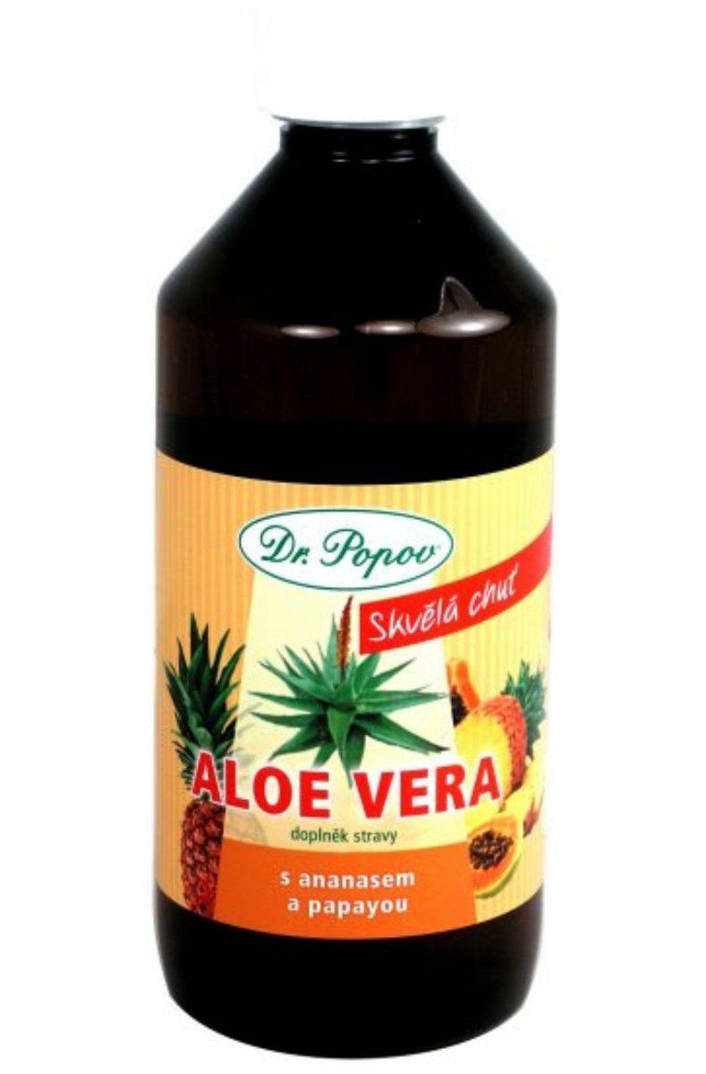 Dr. popov Aloe Vera gel Ananas papaya 500ml