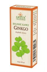 Grešík Ginkgo Herb Drops 50 ml