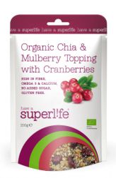 Superlife Organic Chia & Mulberry Topping with Cranberries 200 g