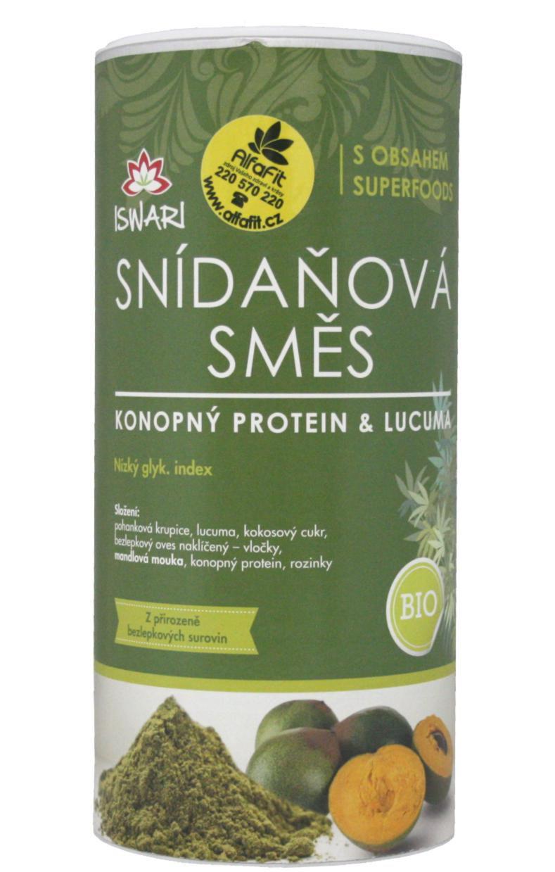 ISWARI Bio snídaňová směs 800 g - konopný protein & lucuma
