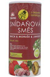 Iswari Bio snídaňová směs 800 g - maca & moruše & jahody