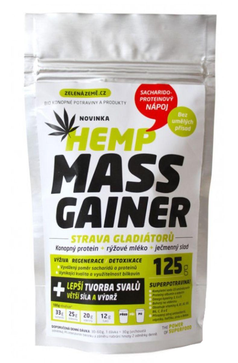 Zelená země Hemp Mass Gainer 125 g