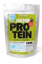 Zelená země Hemp protein 1000 g - coconut & pineapple - Cracked packaging