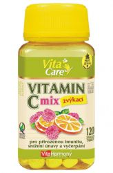 VitaHarmony Vitamín C 100 mg - 120 tablets ─ orange & raspberry