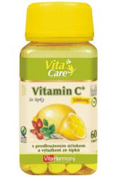 VitaHarmony Vitamin C se šípky 500 mg - 60 tablet