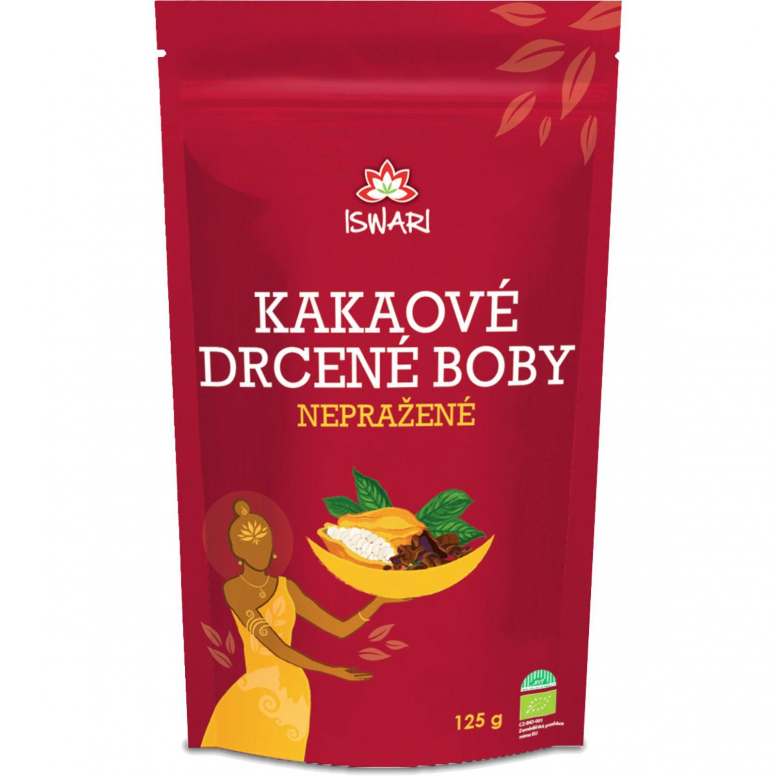 Iswari nepražené kakao - drcené boby 125 g
