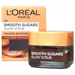 L'Oréal Paris Smooth Sugars Glow Scrub ─ gentle lightening sugar peeling 50 ml