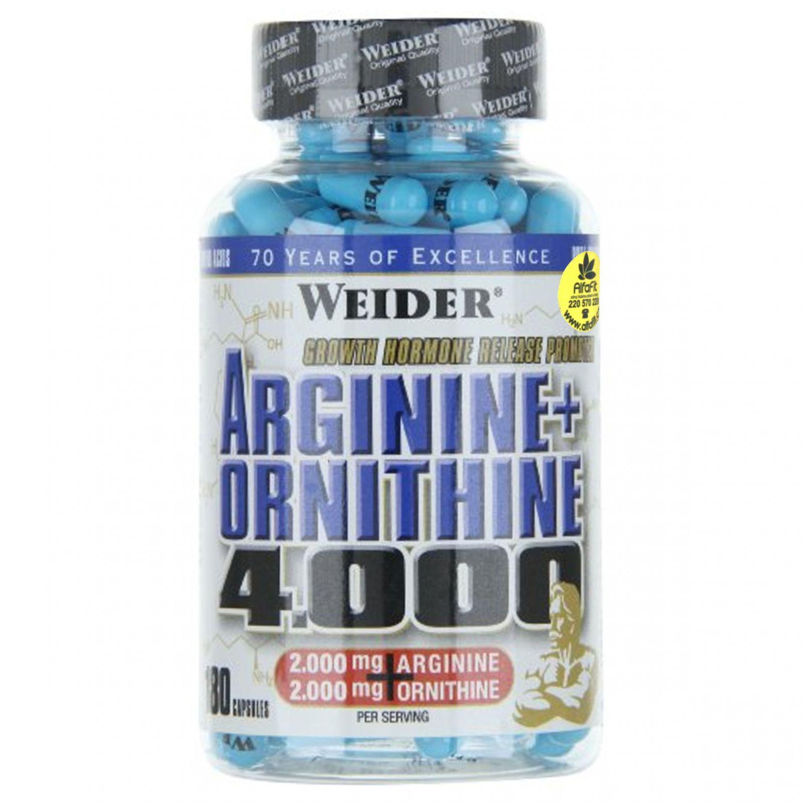 Weider Arginine + Ornithine 4000 - 180 tablet