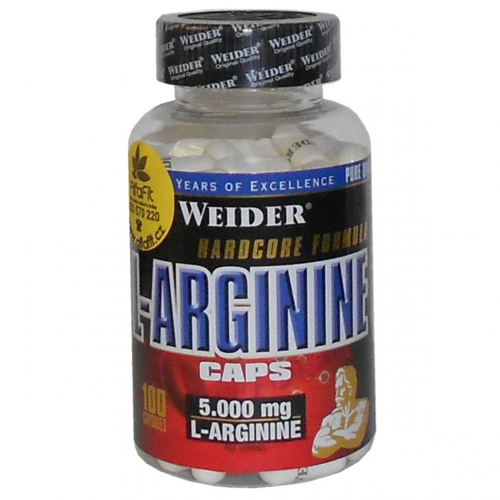Weider L-Arginine 100 kapslí