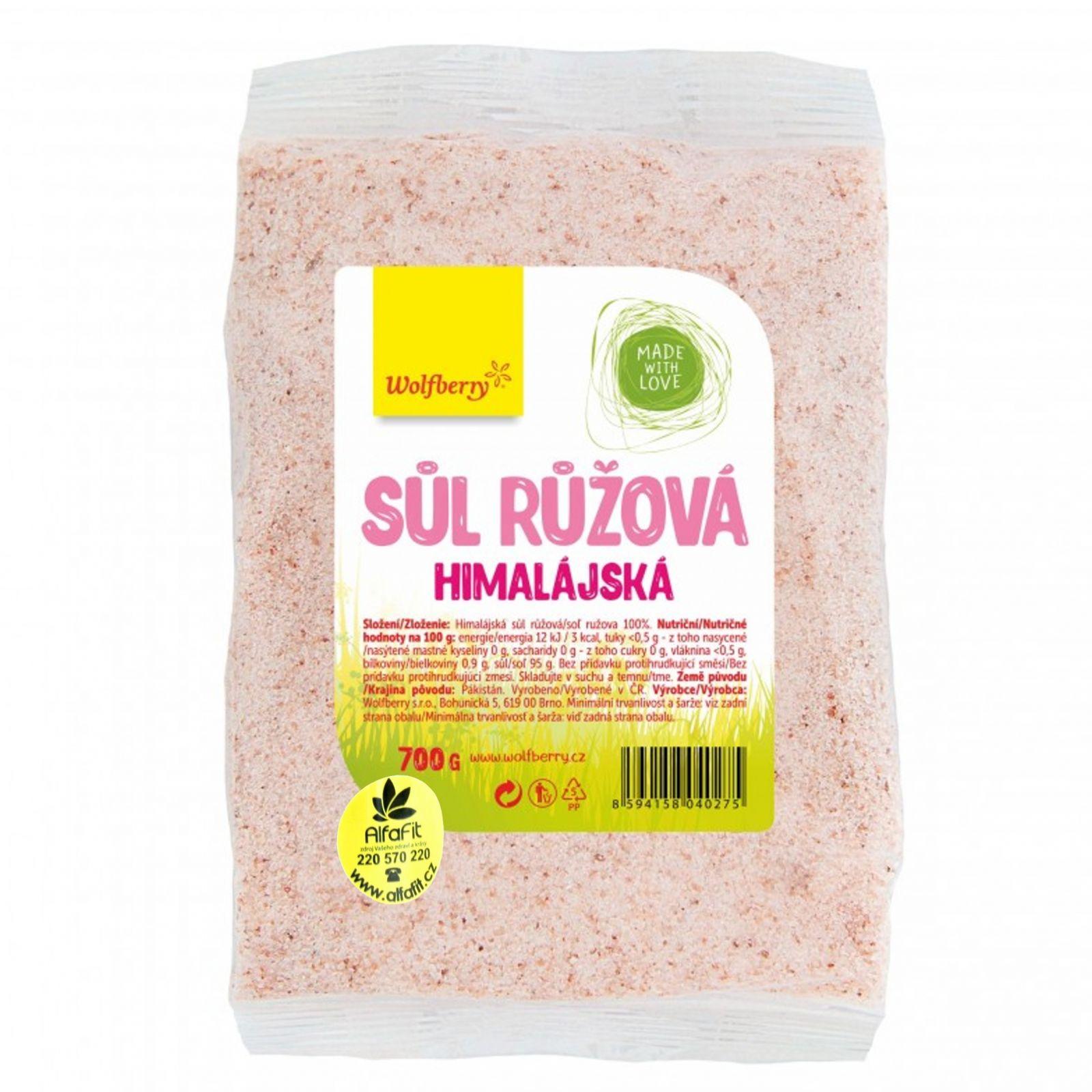 Wolfberry Himalajská sůl růžová sáček 700 g
