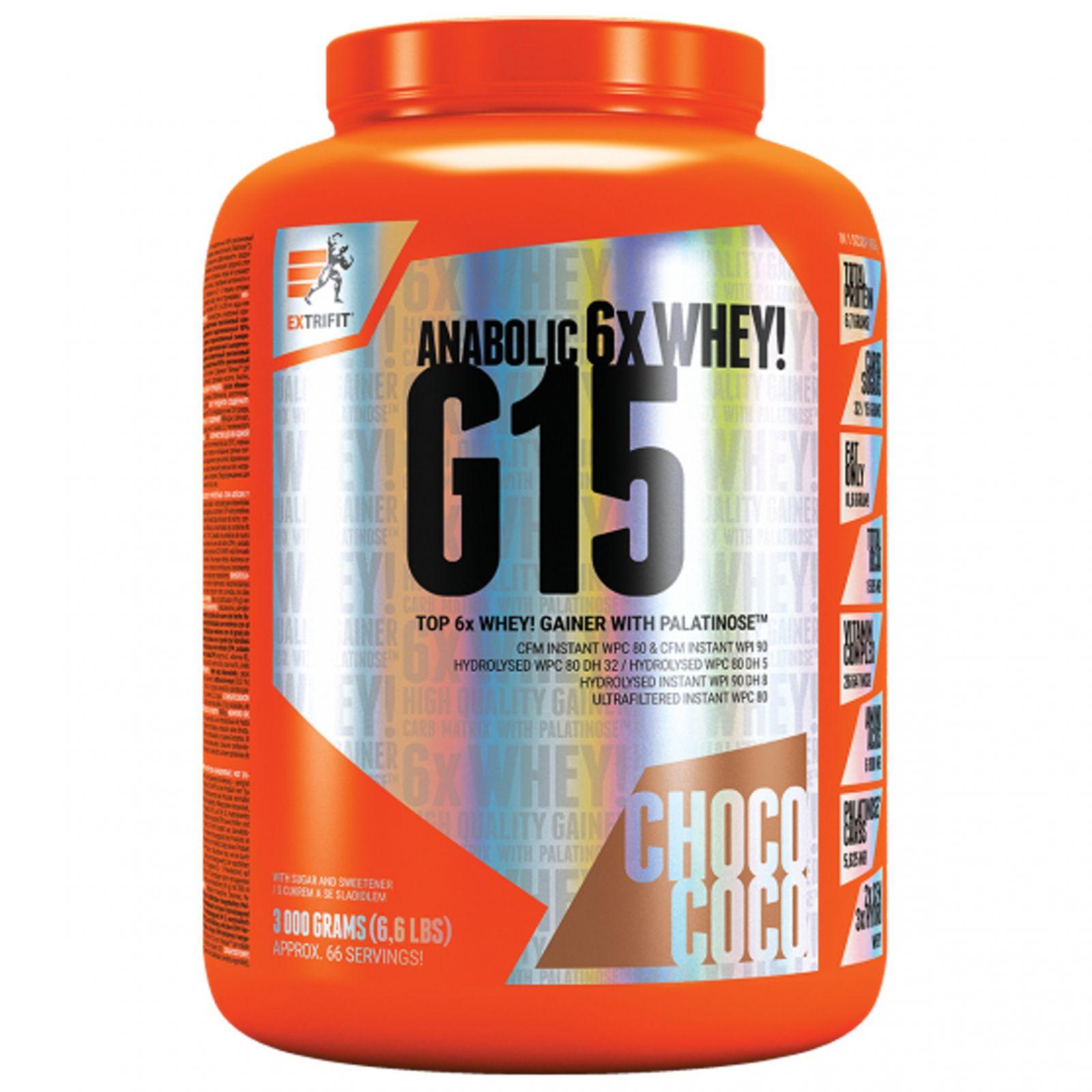 Extrifit G 15 Anabolic Gainer 3000 g
