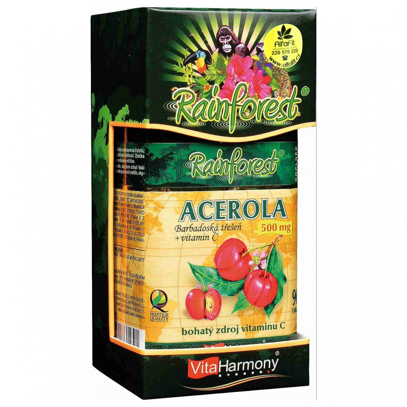VitaHarmony Acerola 500 mg + Vitamin C 250 mg - 90 tablet