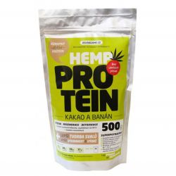 Zelená Země Hemp Protein 500 g - cocoa & banana