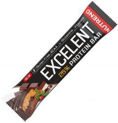 Nutrend Excelent 25% protein bar double 40 g, čokoláda + nugát s brusinkami v mléčné čokoládě