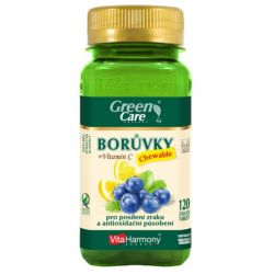 VitaHarmony Borůvky + vitamín C 120 žvýk. tablet