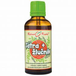 Bylinné kapky Liver and gallbladder - herbal drops 50 ml