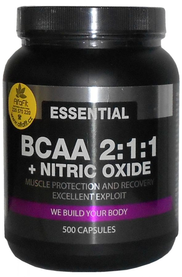 PROM-IN Essential BCAA 2:1.1 + Nitic Oxide 500 kapslí