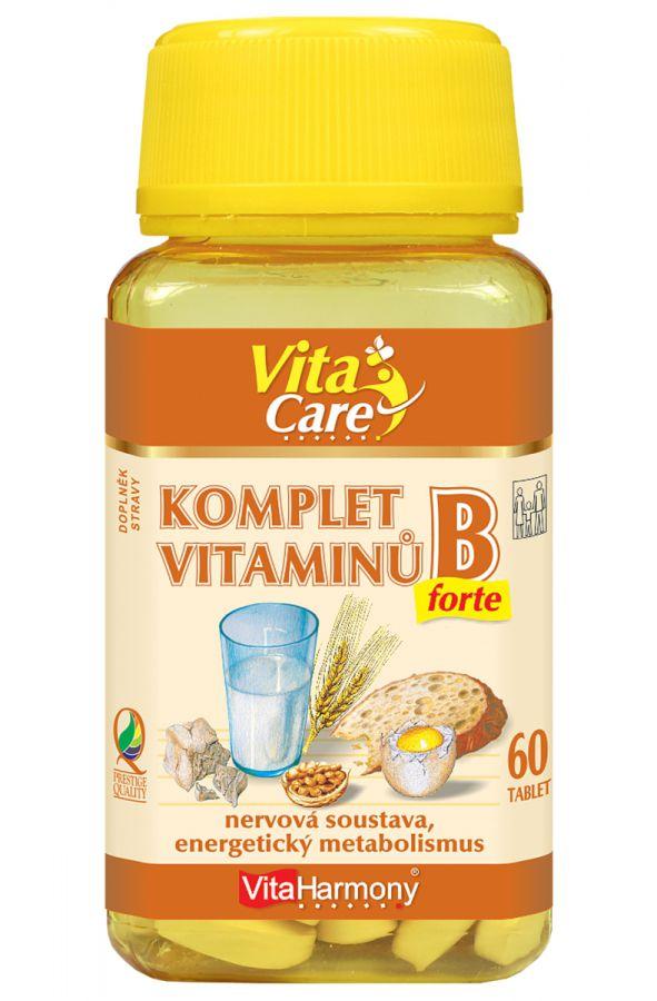 VitaHarmony Komplet vitaminů B-forte 60 tablet