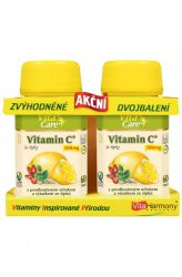 VitaHarmony Vitamin C with rose hips 500 mg 60 + 60 tablets